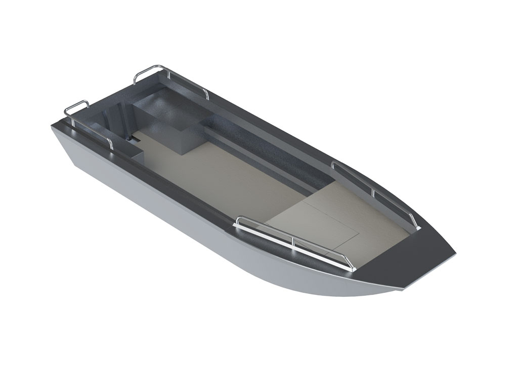 Aluminum river jet boats quotes - 17 Trapper Jet Sled All Welded Aluminum Boat