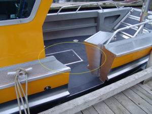 Flush-hatch-in-forward-deck
