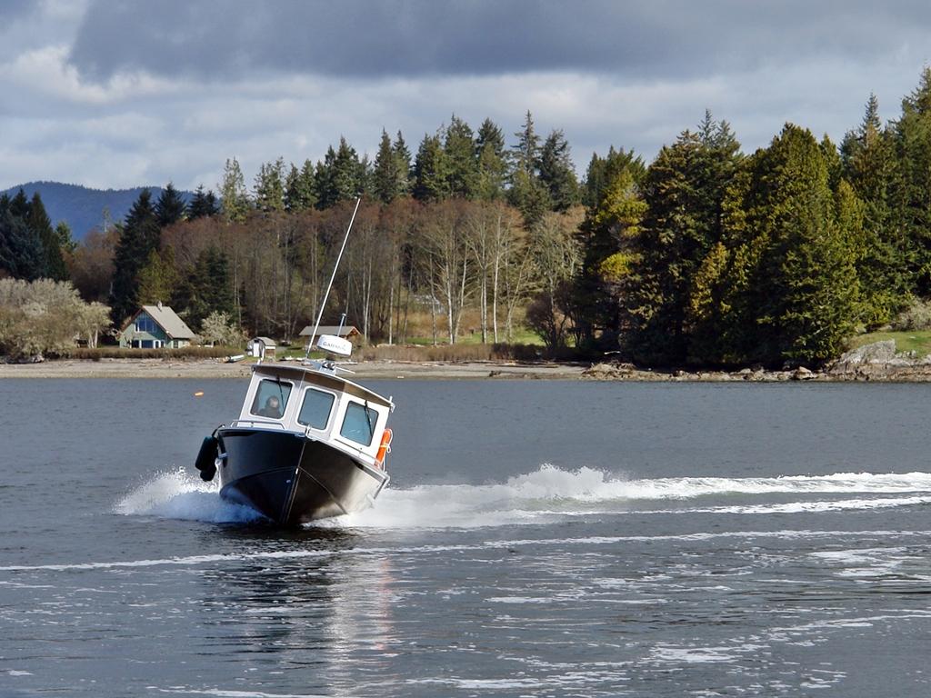 20' Bowen Aluminum Cabin Boat by Silver Streak Boats