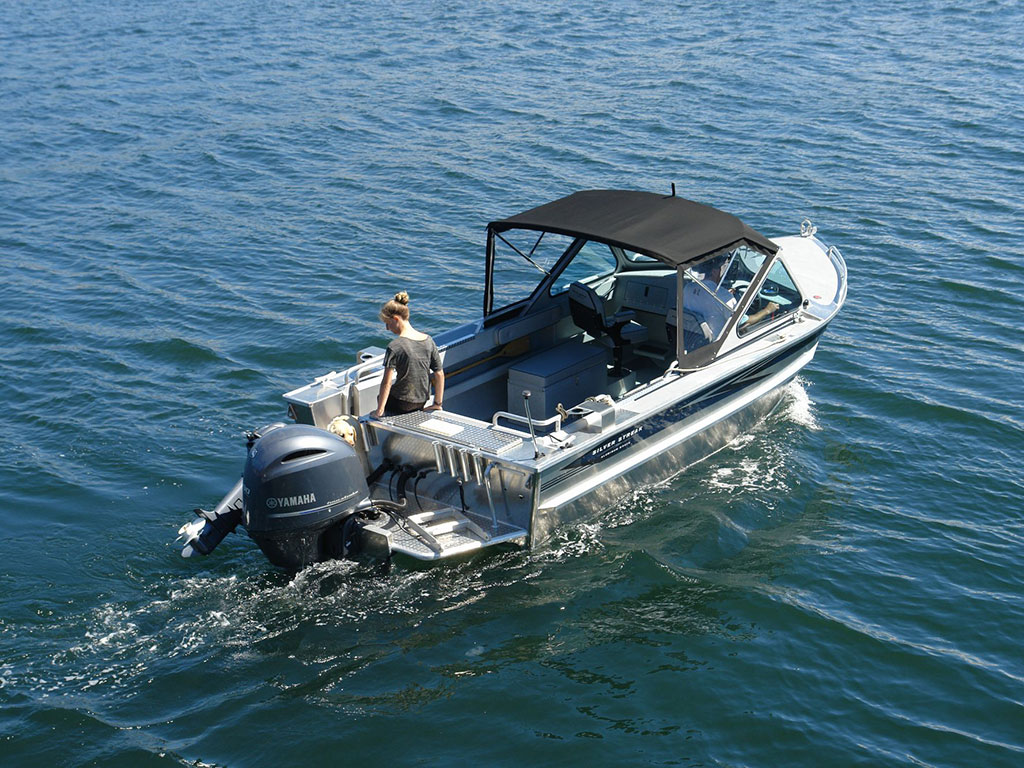20' Renfew Soft Top Aluminum Boat - Hand Crafted by Silver Streak