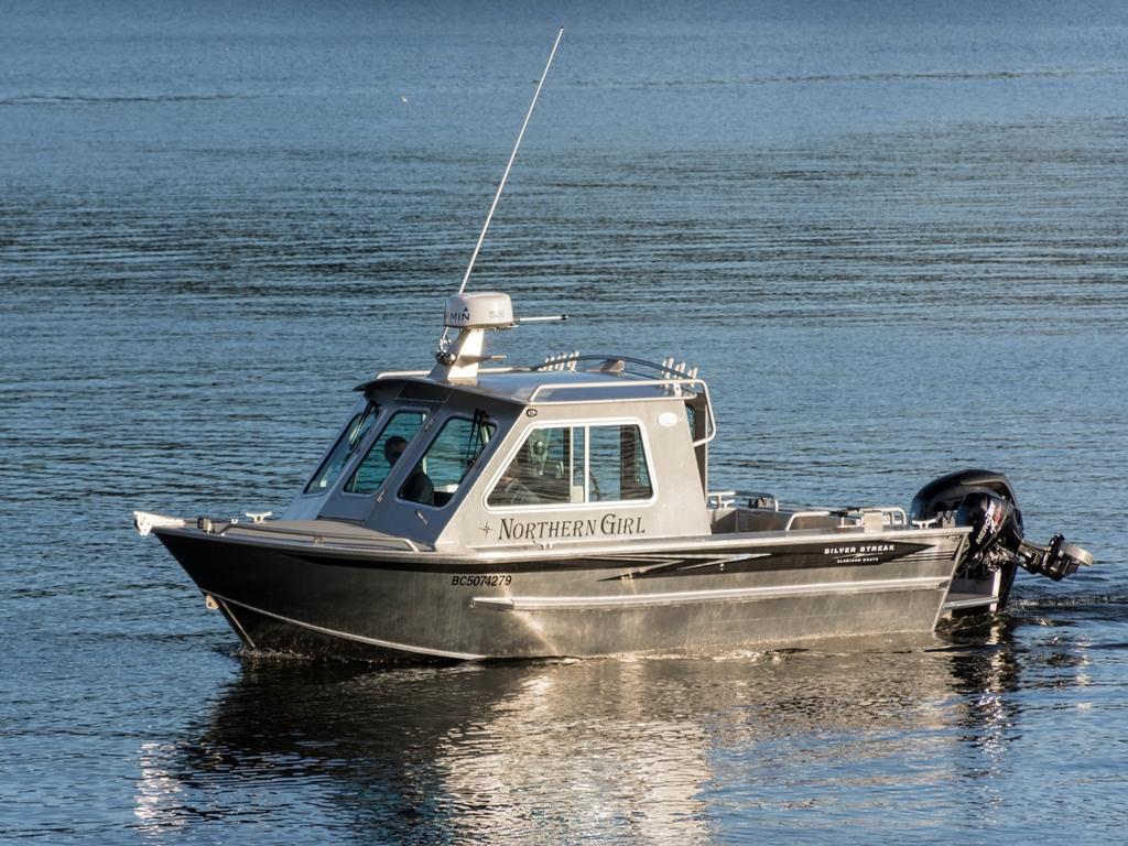 21' Bowen Aluminum Cabin Boat by Silver Streak Boats