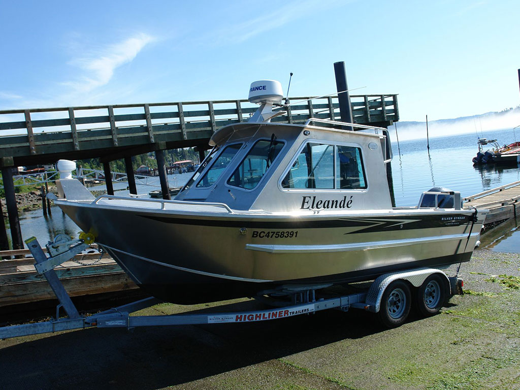 21 39 bowen aluminum cabin boat by silver streak boats for Aluminum boat with cabin for sale