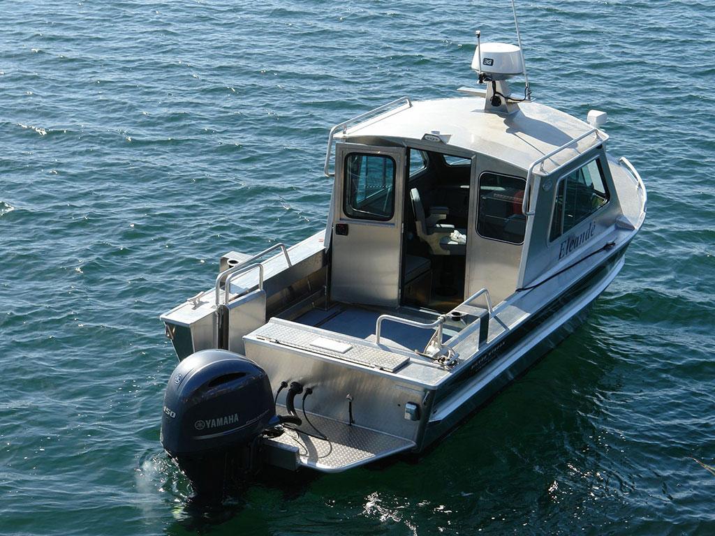21 39 bowen aluminum cabin boat by silver streak boats for Best small cabin boats