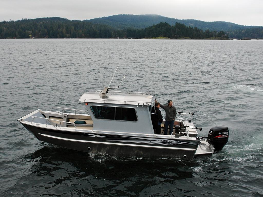 24' San Juan Landing Craft Cabin Aluminum Boat by Silver Streak Boats