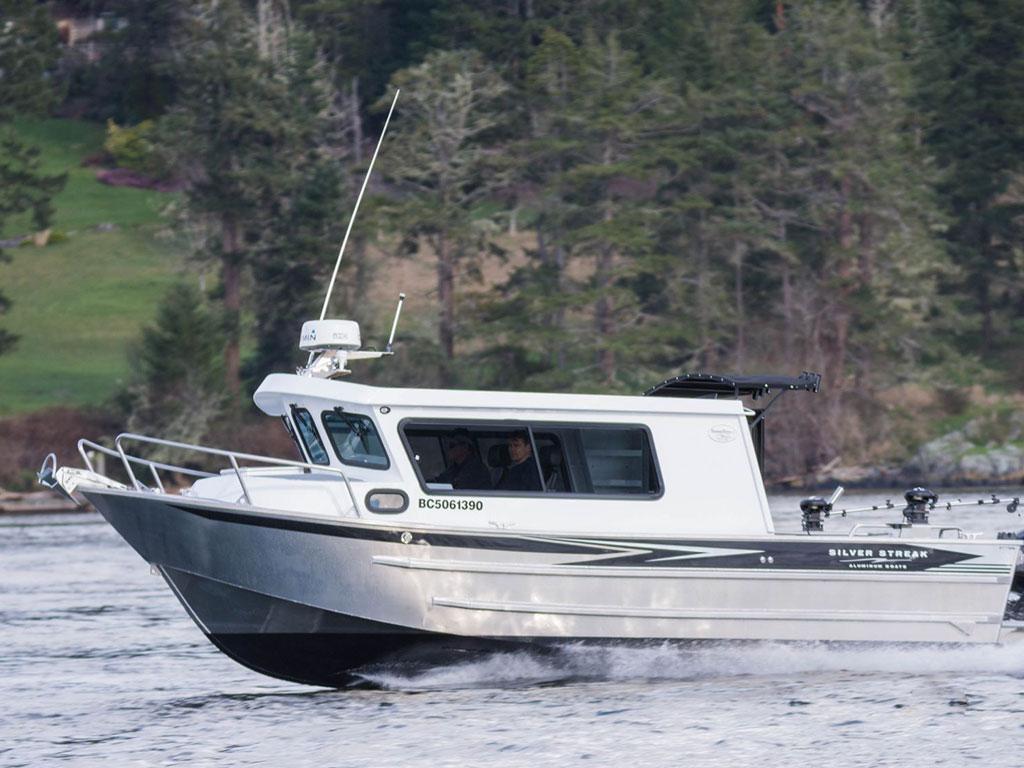 Aluminum Boat Cabins : Swiftsure aluminum cabin boat by silver streak boats