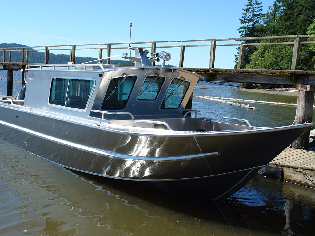 Small aluminum cabin fishing boats pictures to pin on for Best small cabin boats