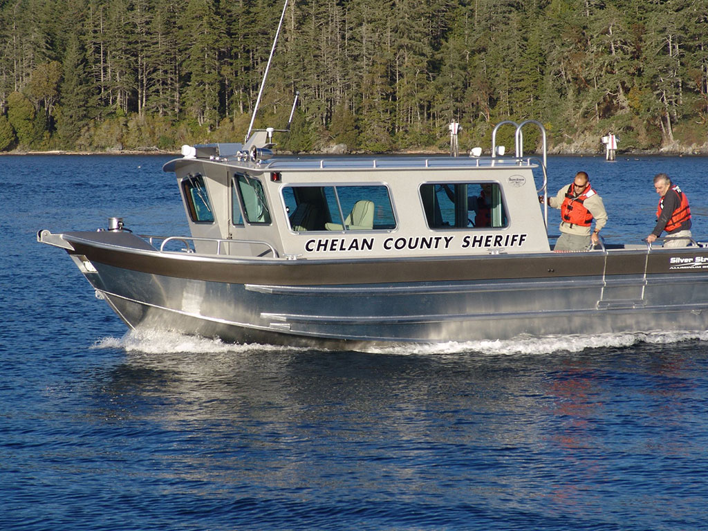 32 39 salish aluminum cabin boat by silver streak boats for Aluminum boat with cabin for sale