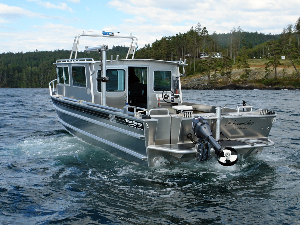 32 39 pilot house aluminum boat by silver streak boats for Aluminum boat with cabin for sale