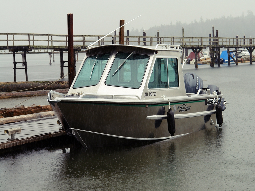Used boats silver streak boats for Aluminum boat with cabin for sale