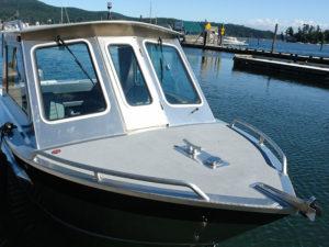 Non-skid paint on bow & gunnels