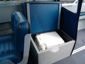 Porta potty seat upgrade - (for Thetford compact manual) bench seat size increase.
