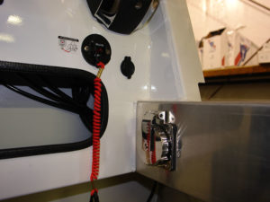 Shore power with 50Ft. 30A cord, AC panel & 110V receptacle.