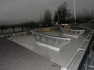 Brackets on cabin top for traps/kayaks (1 set)